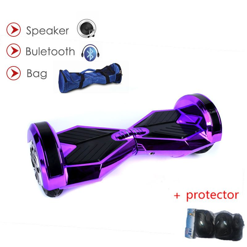 Hoverboard 8 zoll 2 Rad Scooter Selbstabgleich Elektroroller Bluetooth LED-Licht Smart Elektroroller Skateboard Hoverboard