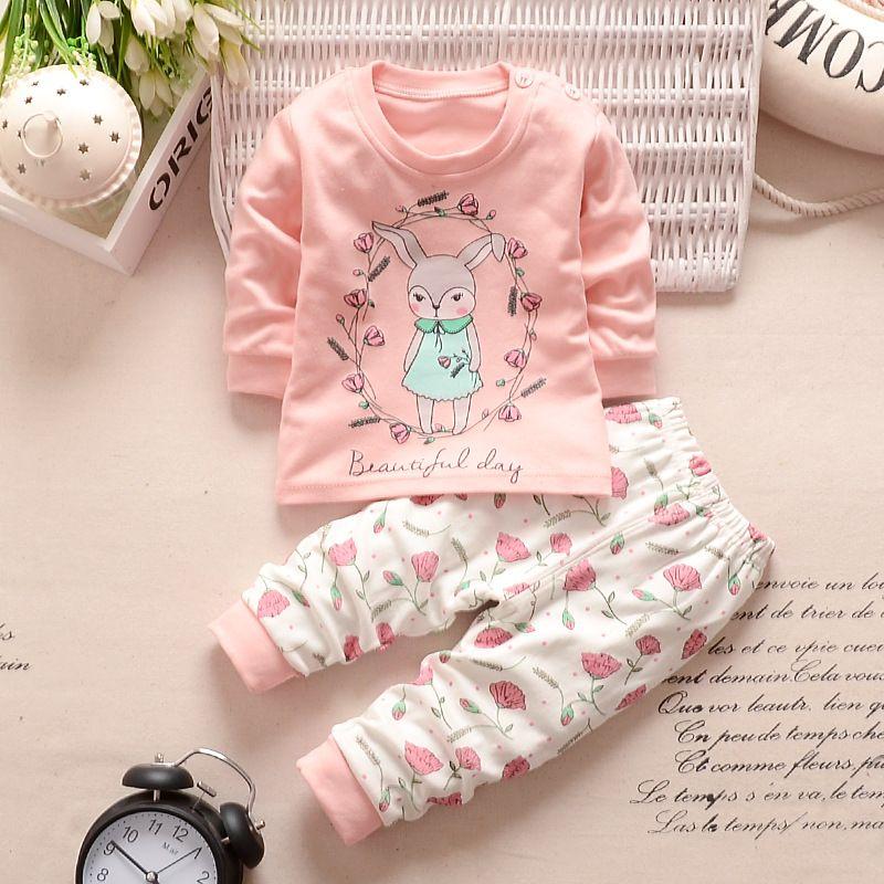 2019 Nouveau Automne Enfants Bébé Garçons Filles Vêtements Définit Survêtement 2 PCS Coton Sport Costume de Bande Dessinée T-shirt + pantalon Enfants Vêtements Ensembles