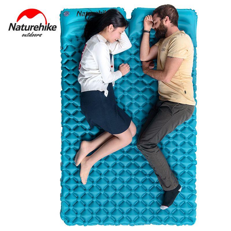 Naturehike doppel isomatte 2 person aufblasbare matratze Ei form außen aufblasbare bett isomatte mit kissen