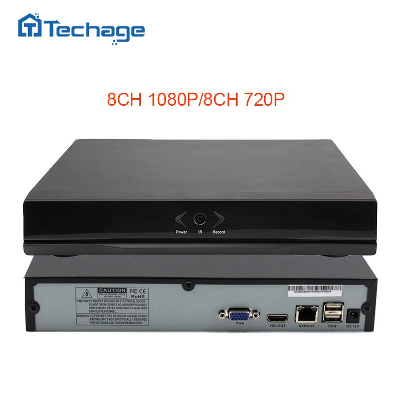 Techage Mini NVR Full HD 8 Channel Security CCTV NVR 1080P 8CH ONVIF 2.0 P2P Cloud Network Video Recorder For IP Camera System