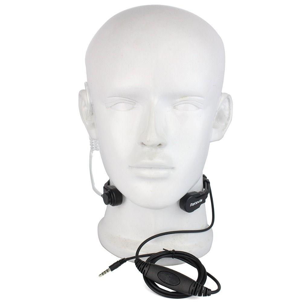 Retevis R-151 1Pin 3.5mm PTT Throat Mic Ecouteur Covert Air Tube Casque Avec rebond Lent Intra-auriculaires pour Téléphone Mobile C9038A