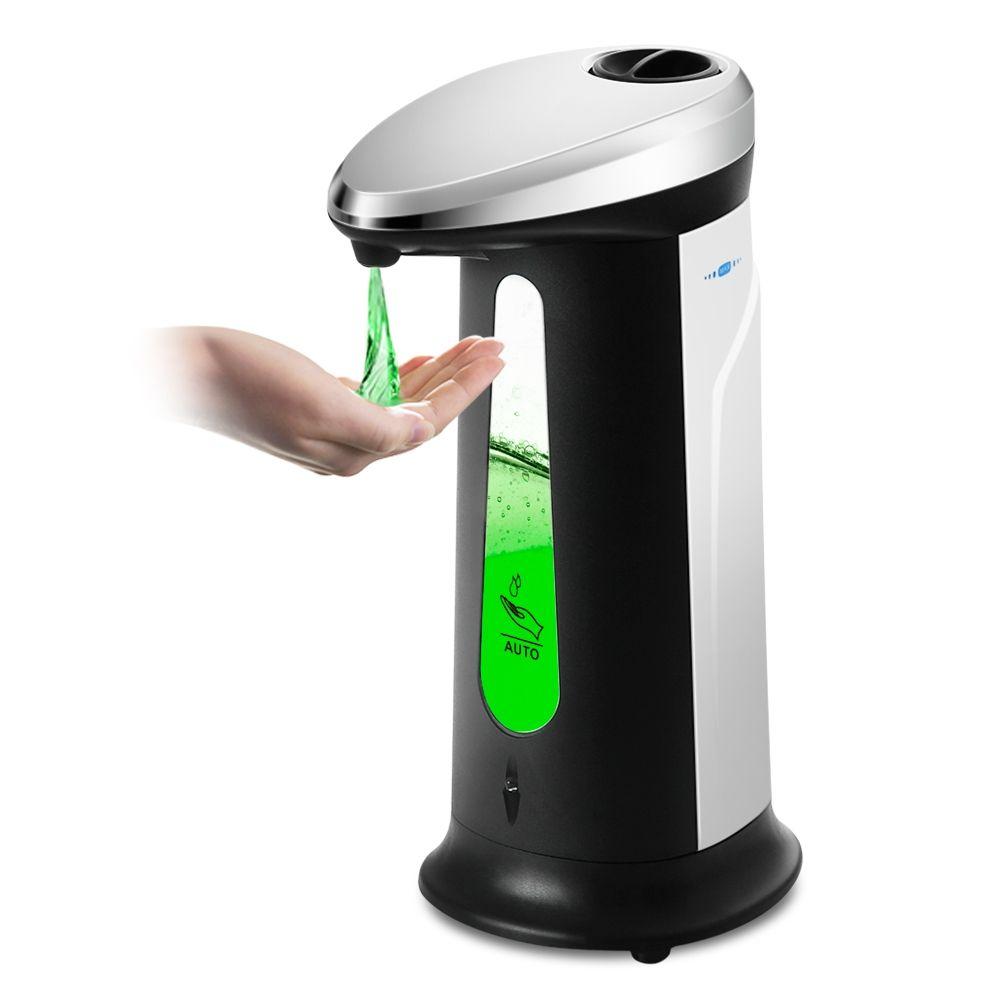 Offre Spéciale Automatique 400 ml Distributeur de Savon Liquide ABS Électrolytique Sans Contact Désinfectant Distributeurs de Savon Pour La Cuisine Salle de Bain Bureau