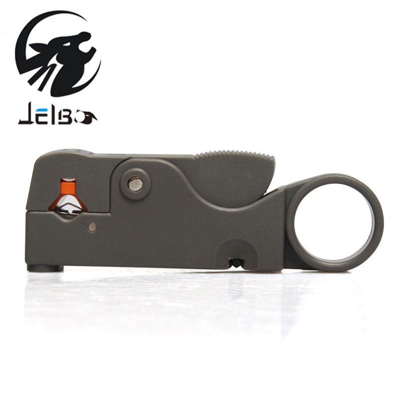 Jelbo Abisolierzange Koaxial Multitool Zange Multifunktions Kabel Stripper Cutter Werkzeug Rotary Coax Stripper Network Tool Zange