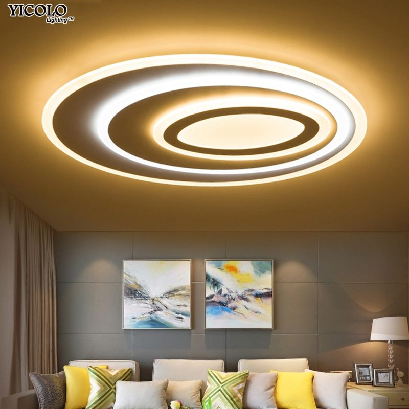 Dimming Led Ceiling Lights remote Control Modern For Living Room Bedroom oval shape 5 sizechose New Design Ceiling Lamp Fixtures