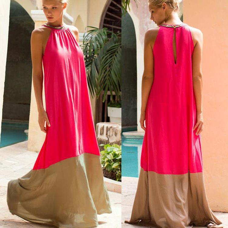 2018 Sari Inde Pakistan Achats Robes Coton Femmes Vêtements Nouvelle Robe Européenne Chaude Sexy Halter Femelle Dos Creux Couleur