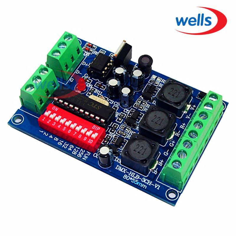 Courant Constant 700ma Haute-puissance 3CH RGB dmx Contrôleur, lecteur, DMX512 décodeur Pour led projecteur LED Wall washer lampe