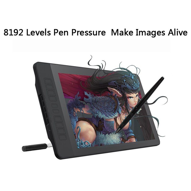 GAOMON PD1560 15,6 zoll IPS HD Kunst Malerei Grafik tablet mit Screen 8192 Ebenen Druck Stift Tablet Display für Zeichnung handschuh