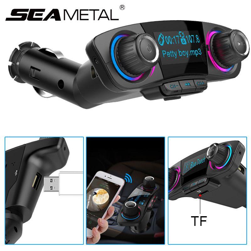 Audio Car MP3 Player USB Modulator Bluetooth FM Transmitter LED Dual USB Mobile Phone Handsfree Display Charger Wireless Music