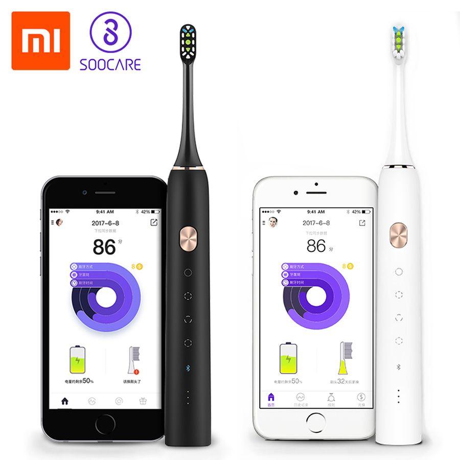 Xiaomi Mijia Mi SOOCAS SOOCARE X3 Smart Sonic Electric Tee brush Bluetooth Waterproof Wireless Charge Mi Home APP (Usb charing)
