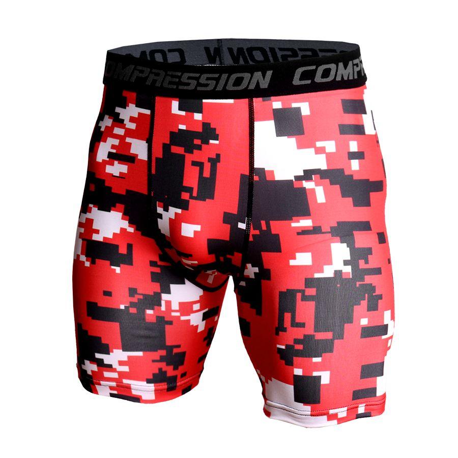 2018 Camouflage Shorts Männer Getäfelten Compression Shorts Bottoms Strumpfhosen Fitness Leggings Bodybuilding Unter Tragen Short Joggers Männer