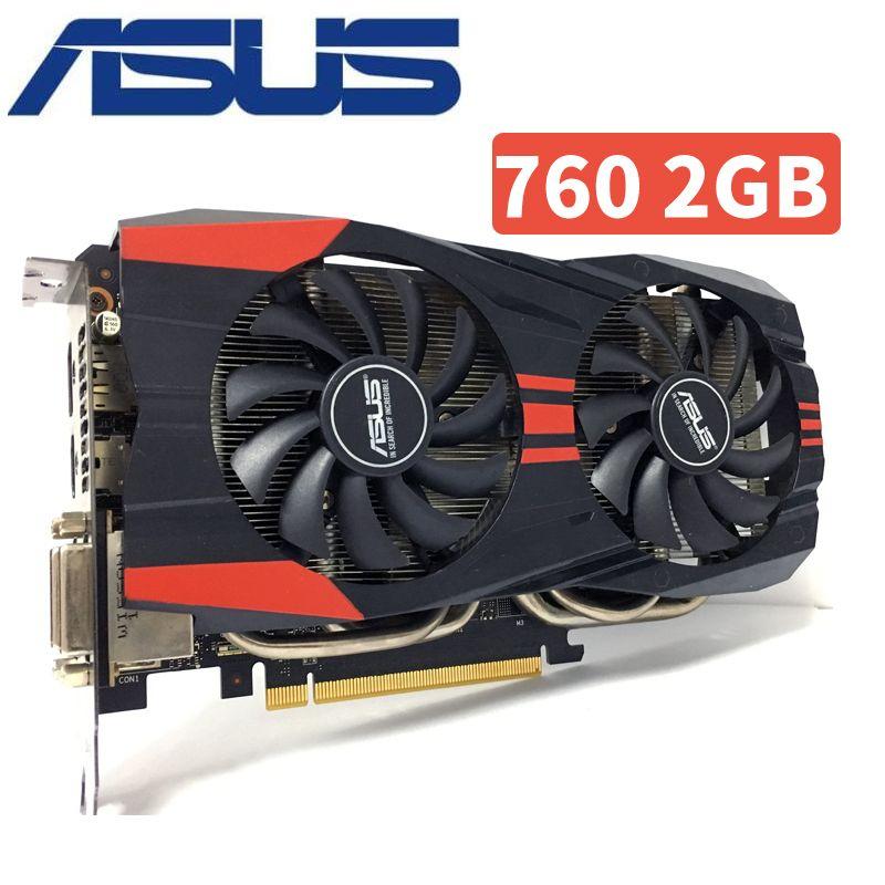 Asus GTX760 2 gb D5 DDR5 256Bit PC Desktop GTX 760 2g GTX760 2g Grafikkarten PCI Express 3,0 computer Video karte HDMI