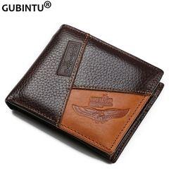 GUBINTU Véritable En Cuir Hommes Portefeuilles Coin Pocket Zipper Réel Hommes En Cuir Portefeuille avec Coin de Haute Qualité Homme Bourse cartera