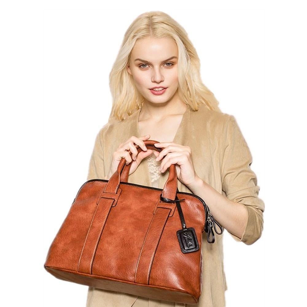 Amelie Galanti Frauen Handtaschen PU Leder Solide Top-Griff Taschen Mode Frau Casual Totes Große Volumen Crossbody Frauen Handtaschen