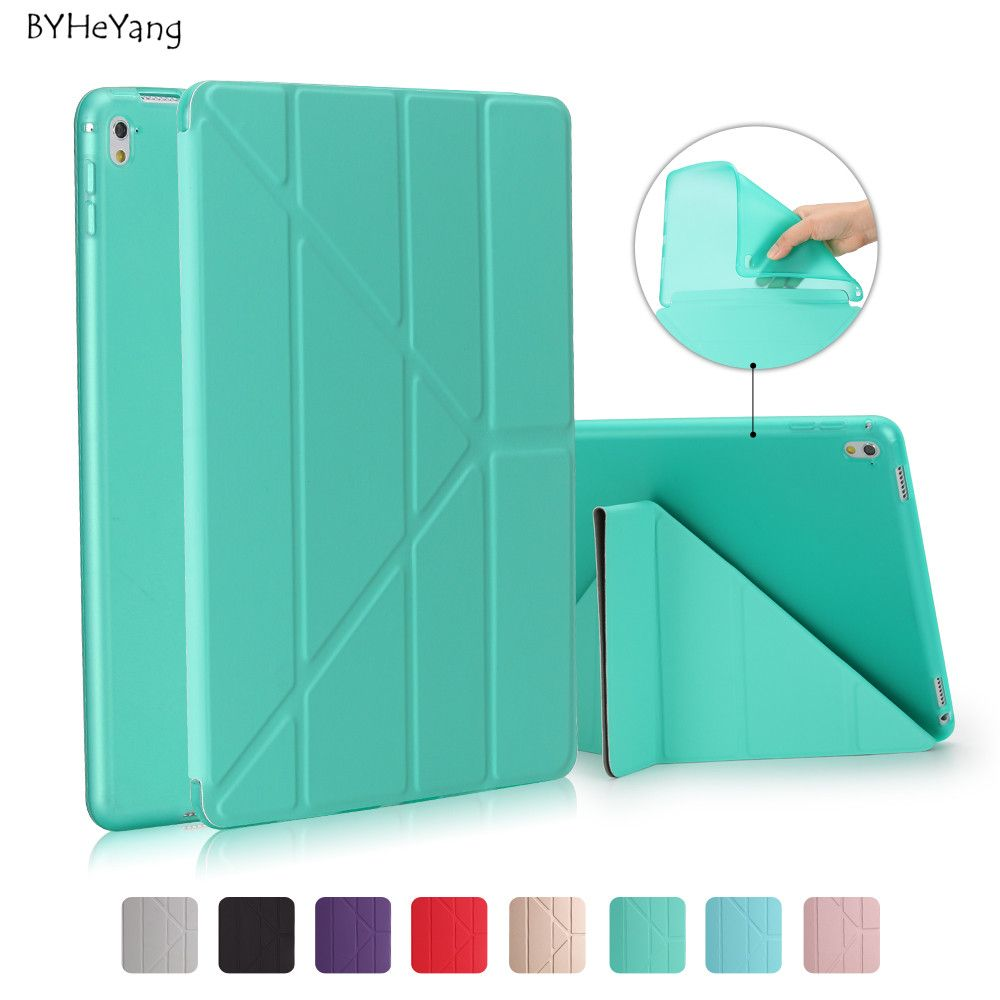 BYHeYang Case for New <font><b>iPad</b></font> Pro 10.5 2017 PU Smart Cover Case Magnet wake up sleep For <font><b>iPad</b></font> Pro 10.5inch 2017 Table Cover