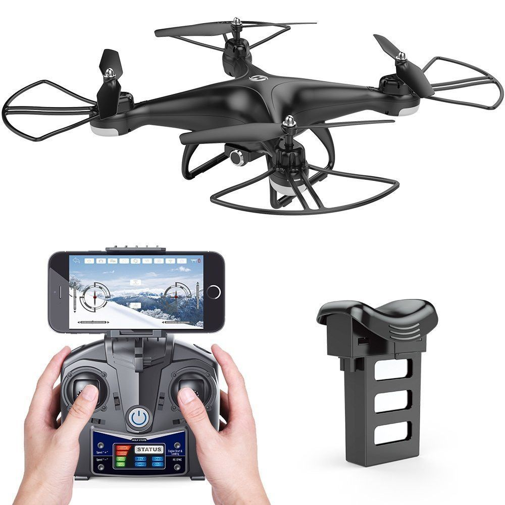 Holy Stone HS110D FPV Drone with HD Camera RC Helicopter WiFi APP Control 6-Axis Gyro Altitude Hold Modular Battery Quadcopter