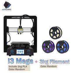 ANYCUBIC I3 Mega 3D Drucker Plus Größe Volle Metall Rahmen Gitter Plattform Desktop Düse 3d Drucker Kit Industrie Grade Billig