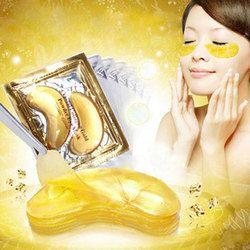 20 pcs = 10 packs Or Masque Pour Les Yeux En Cristal Collagène Masque Pour les Yeux Cernes Anti-poches Crème Acide Hyaluronique Pansements oculaires D'or Masques