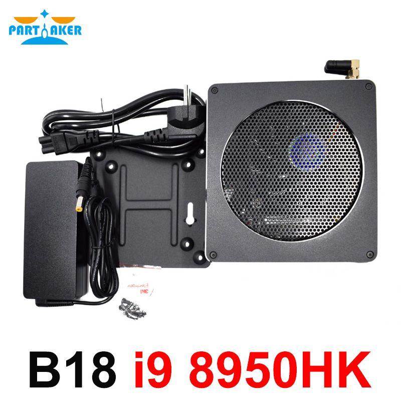 Teilhaftig Top Gaming Computer Intel core i9 8950HK 6 Core 12 Threads 12 M Cache 14nm Nuc Mini PC Win10 pro HDMI AC WiFi BT DDR4