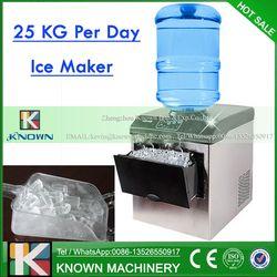 Producción Diaria de acero inoxidable 25 kg vertical hacer hielo máquina de hielo cubo con 25 kg almacenamiento