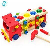 Детские деревянные игрушки инструменты дети инструмент автомобиль разобрать настольные игры обучения образования Knock на ШВП сборки сад