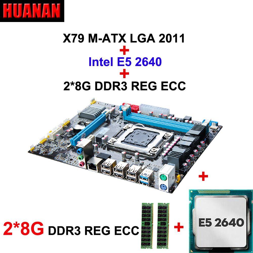 Bestseller marke HUANAN X79 MOTHERBOARD-FREIES CPU RAM combos CPU xeon E5 2640 CPU RAM 16G (2*8G) DDR3 REG ECC alle sind in WIN7
