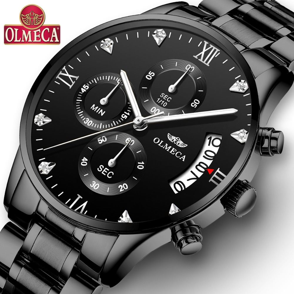 OLMECA Relogio Masculino Men Watches Luxury Famous Top Brand Men's Fashion Casual Dress Watch Military Quartz Wristwatches Saat