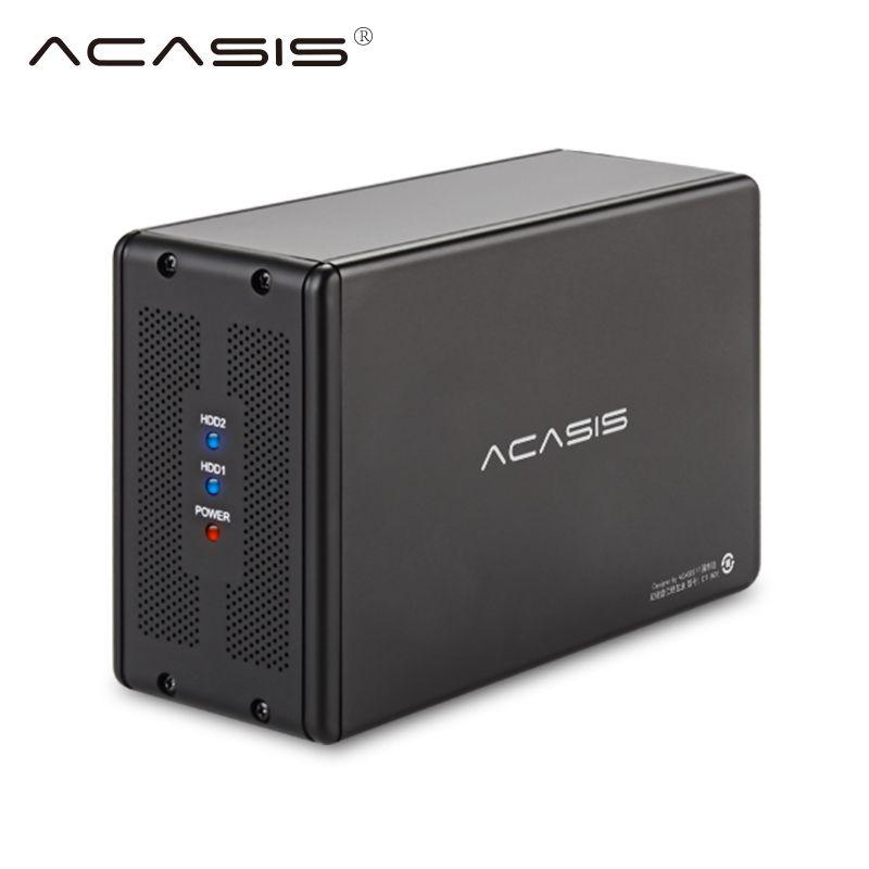 Externe USB 3.0 sata 3,5-zoll Dual Festplatte SATA Serien Festplatte Array RAID Festplatte Box Laptop Desktop HDD Docking