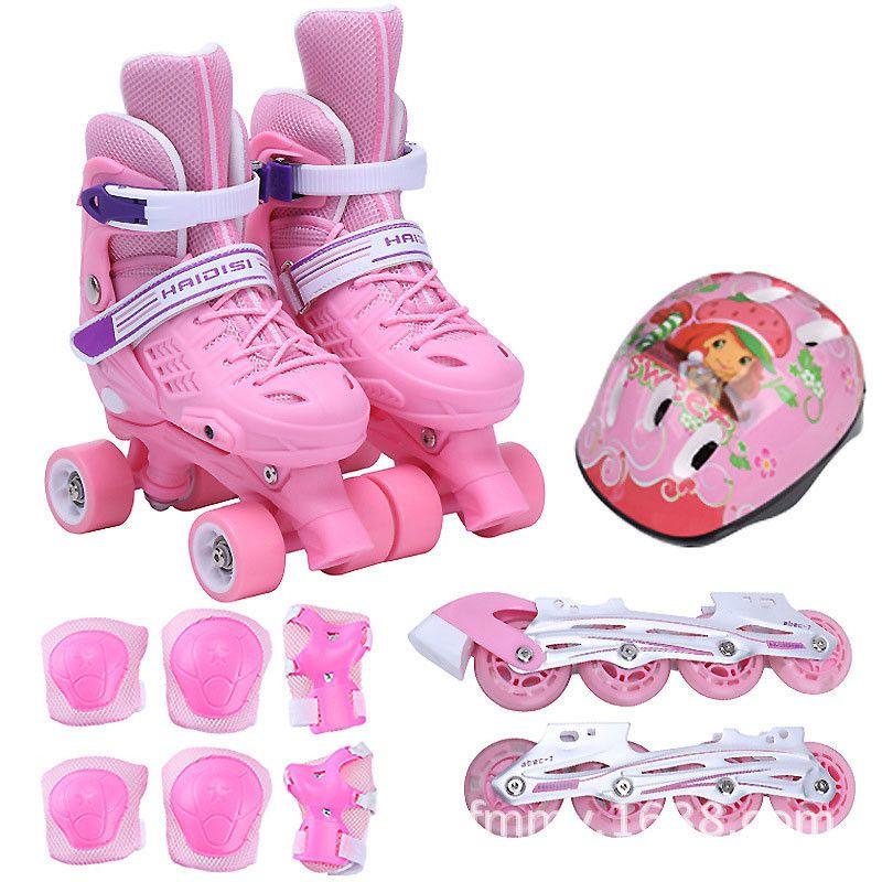 Kind Single/Zwei Reihe Veränderbar Blinkt Roller Quad Skates Schuhe Einstellbar Slalom Inline Skate Schuh Patines Gut Wie SEBA, IB05