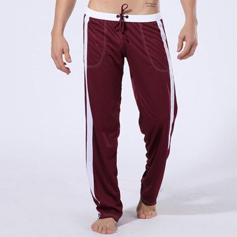 2017 New arrival men's sports pants comfortable breathable yoga leggings soft sexy drawstring leggings sport men fitness gym