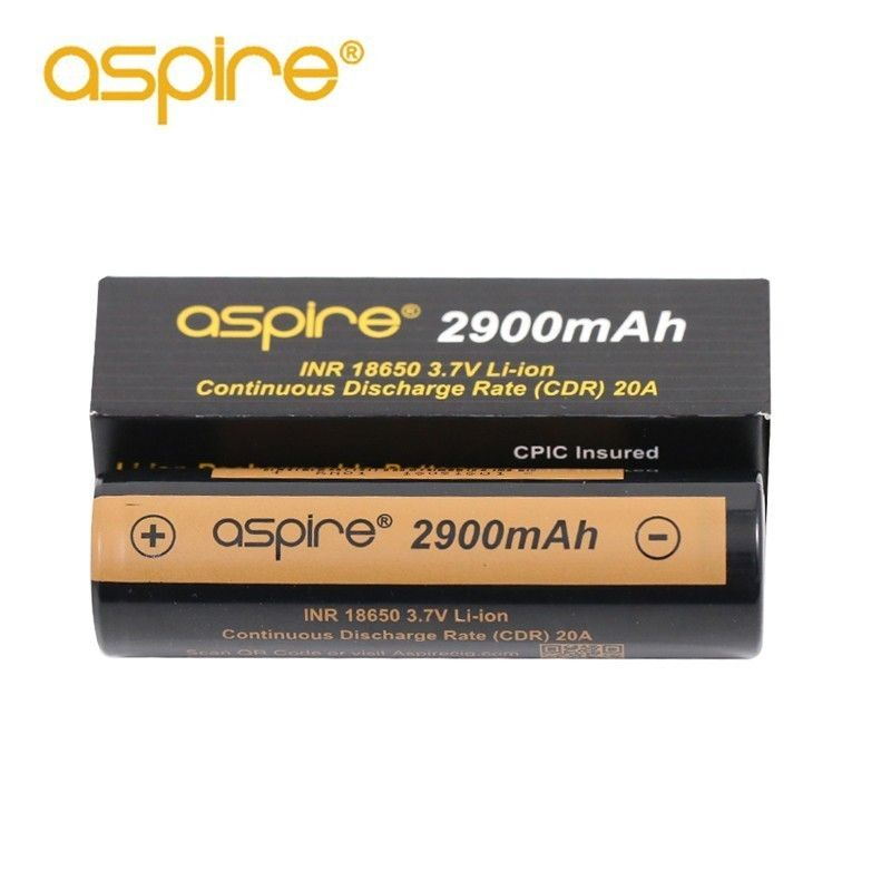 2 stücke Hohe Qualität Aspire INR 18650 Batterie 2900 mah 3,7 v Li-Ion Elektronische Zigarette 18650 Akku Vape Batterie