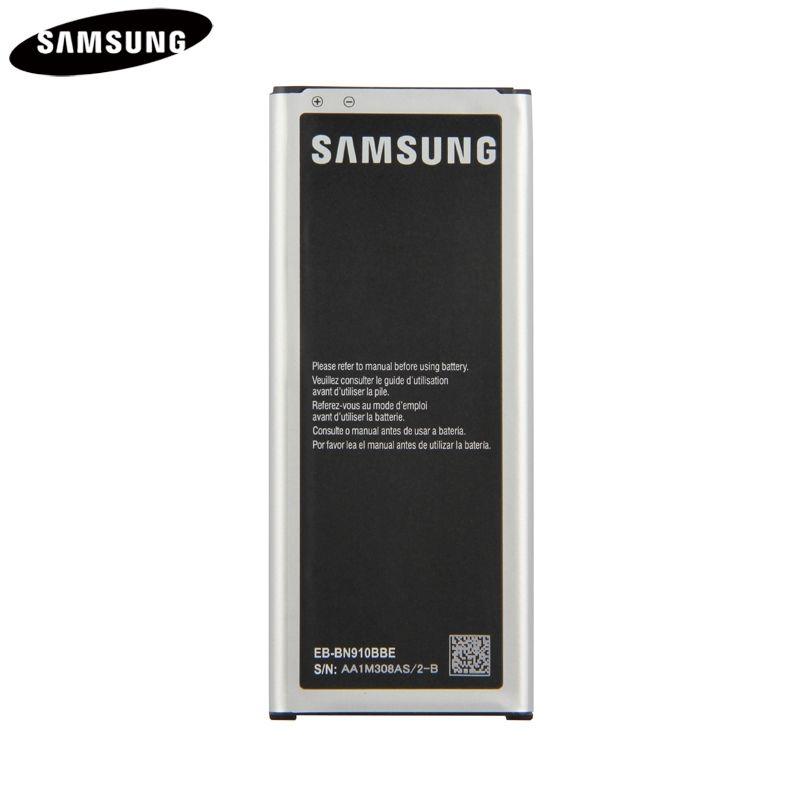Batterie d'origine EB-BN910BBE Pour Samsung GALAXY NOTE 4 N910u N910F N910H N910 NOTE4 SM-N910G SM-N910C SM-N910K N910FQ 3220 mAh