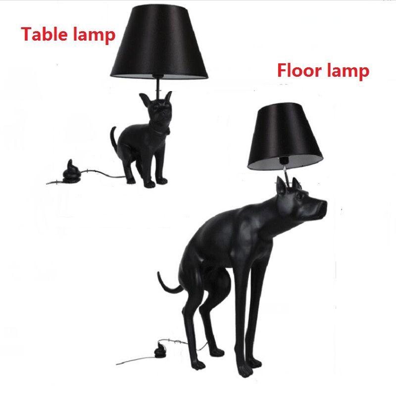 Modern Black Abajur Dog Desk Lamp Fixture Bedroom Study Table Lamp Nordic Animal lampe Table Living Room Reading Lamp 110V 240V