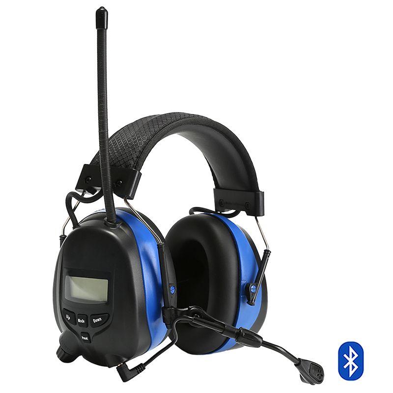 Elektronische Gehör Schutz Bluetooth Ohrenschützer mit Mikrofon Rauschunterdrückung Taktische Gehörschutz AM/FM Radio Ohrenschützer
