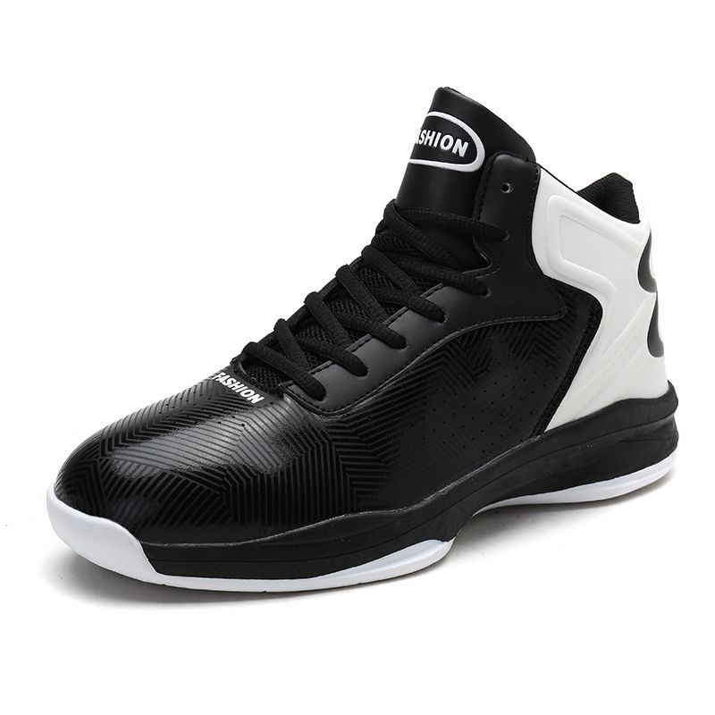 Good Brand Men's Basketball Shoes Leather Comfortable Mens Gym Training Boots Cheap Mens Basketball Sneakers Big Size 46