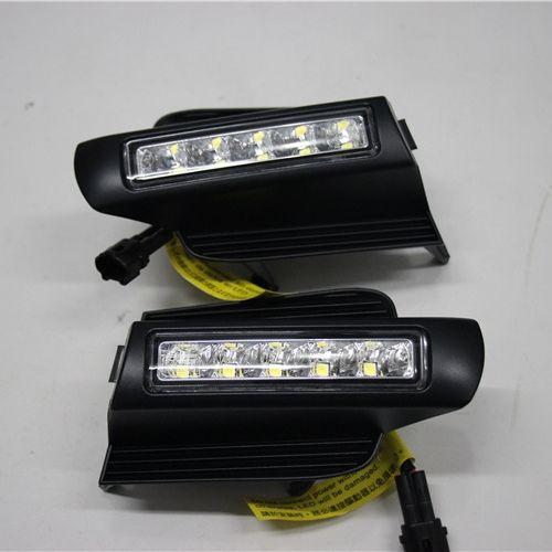 LED Daytime Running Light for Toyota Prado 120 LC120 GRJ120 Land cruiser 2003-2009 Fog lamp drl bumper light