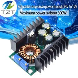 DC/CC Adjustable 0.2-9A 300W Step Down Converter 5-40V untuk 1.2- 35V Power Supply Modul LED Driver UNTUK ARDUINO