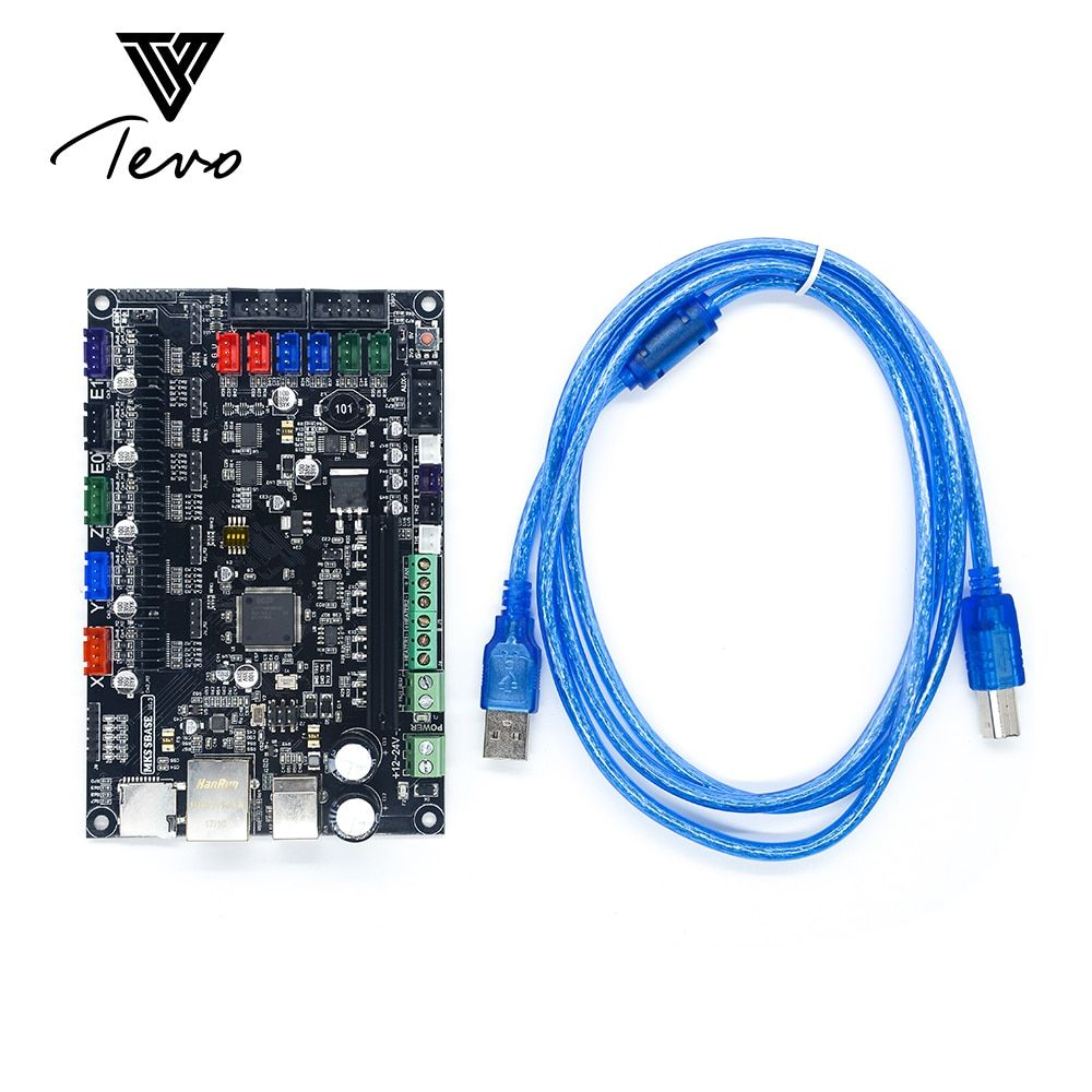 TEVO 32bit Arm platform Smooth motherboard board MKS SBASE V1.3 open source MCU-LPC1768 support Ethernet preinstalled heatsink