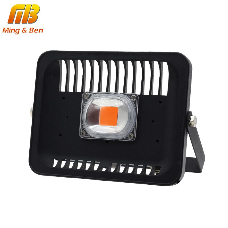 [MingBen] Led Grow Flood light Outdoor IP65 Waterproof High Power 30W 50W 100W 220V For Plant With EU Plug Connector Growthlight