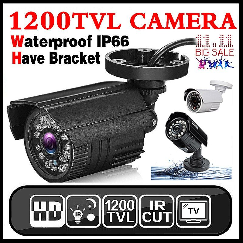 11.11Hot <font><b>Sale</b></font> Real 1200TVL Mini Analog HD CCTV Camera Outdoor Waterproof IP66 24led IR-CUT infrared Security Surveillanc Vidicon