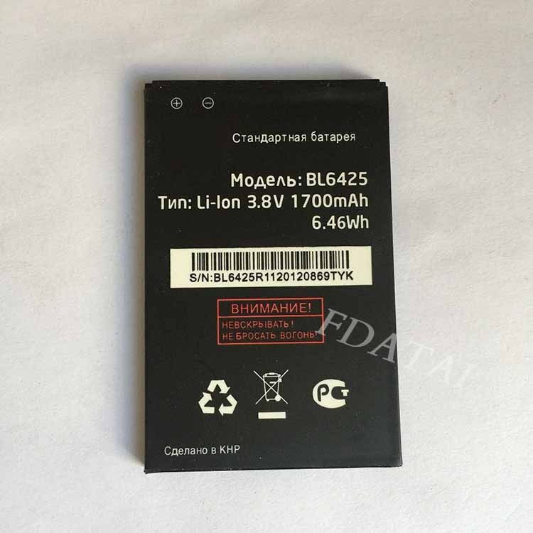 For fly FS454 3.7V Li-ion Mobile Phone Batteries Fashion New Arrival 1700mAH Fit for fly FS454 Nimbus 8 bl6425 battery