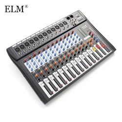 ELM Professional 12Channel Karaoke Audio Sound Mixer Super Slim Microphone Mixing Amplifier Console With USB 48V Phantom Power