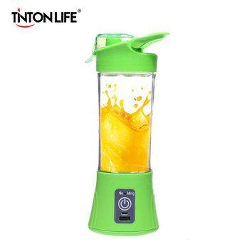 TINTON LIFE USB Charging Mode Portable Charging Treasure Function Small Juicer Blender Egg Whisk Fruits Mixer