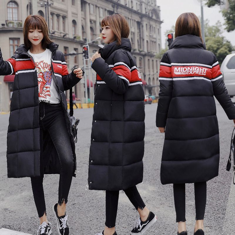 Hooded Winter Down Coat Jacket Long Thick Warm Women Casaco Feminino Abrigos Mujer Invierno Student Wadded Parkas Outerwear