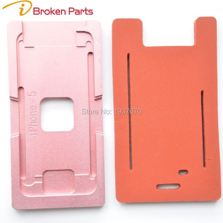 Top Qualität Präzision aluminium form Laminator form für iPhone 7 6 6 s plus 5 5 s frontglas rahmen 2 in 1 metallform mit matte