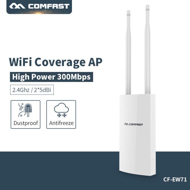 Big area WiFi Cover Wireless wi-fi Range Extender 300Mbps Outdoor wifi Repeater Amplifier 2.4G Waterproof 27dBm Wifi Router/AP
