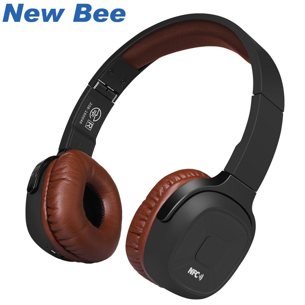 Nouveau Bee mis à niveau sans fil Bluetooth casque Hifi Sport casque avec podomètre App Mic NFC écouteurs Stand pour téléphone PC