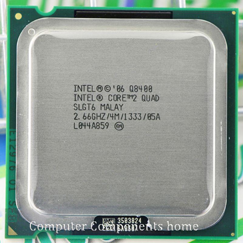 Intel core 2 quad Q8400 CPU Prozessor (2,66 Ghz/4 Mt/1333 GHz) Buchse 775 Desktop CPU kostenloser versand
