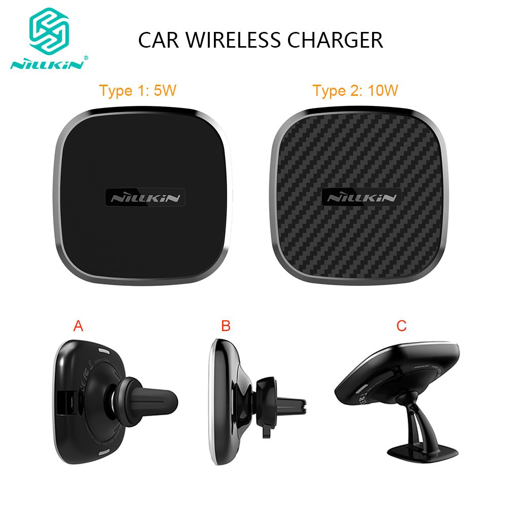 Chargeur magnétique sans fil de voiture Nillkin Qi pour Samsung Galaxy S10 S7 S8 S9 Plus support de prise d'air pour iPhone Xs Max X pour Mi 9