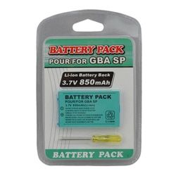 Rechargeable 3.7V 850mAh Li-ion Power Pack Tool Pack Kit for Gameboy Advance SP Battery Pack for GBA SP