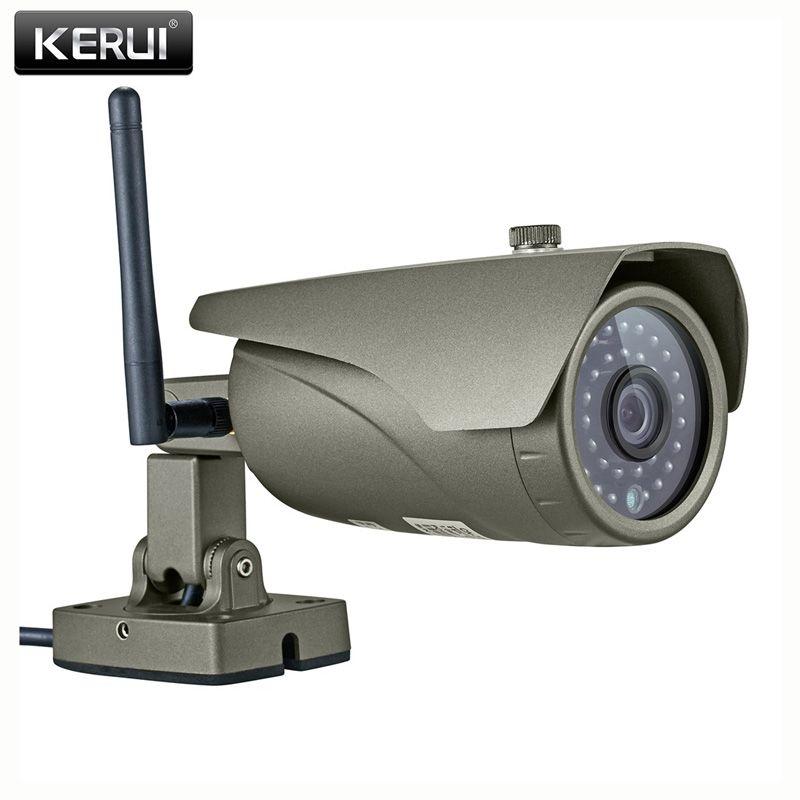 KERUI Visualisation en temps Réel WIFI IP Caméra P2P 2.0MP Étanche Extérieure Full HD 1080 p Onvif Caméra de Surveillance avec HDMI VGA Sortie